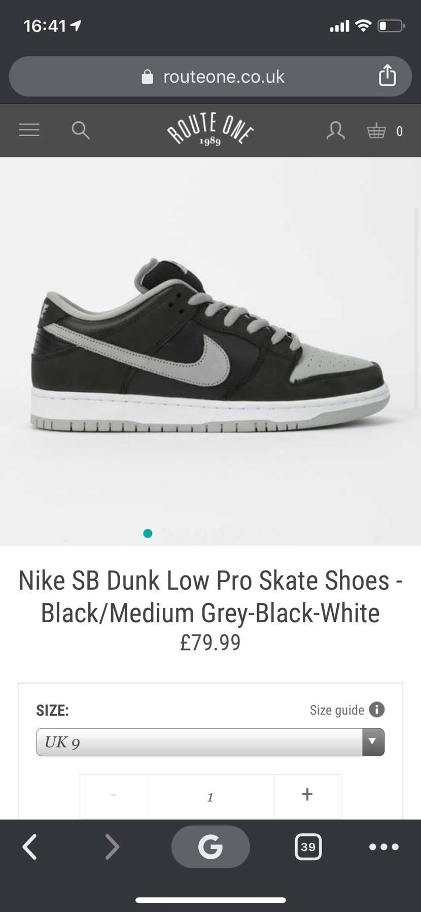 "Nike SB Dunk Low ""Shadow"" ヨーロッパ内発送可能!"