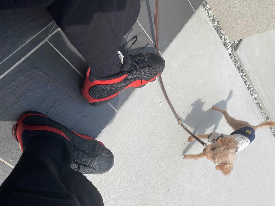 個人的にジョーダンの中で13が一番歩き易くて特に履いてる。🐶
