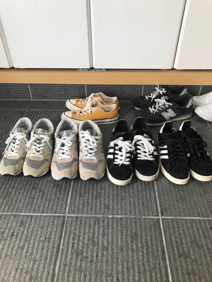 うちの家では、嫁と一緒に履ける靴はこの2足だけ…確実に言えるのは、ローテクだけし