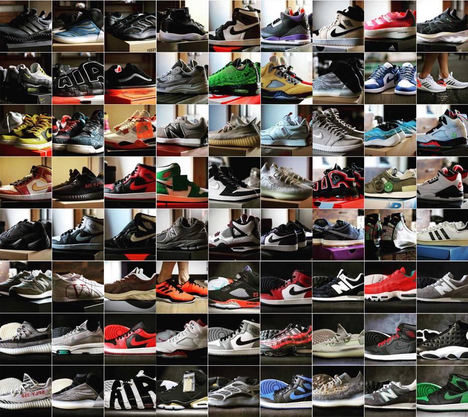 2020年、何足スニーカー買ったか数えてみたら72足(実際には複数買ってるのもあ