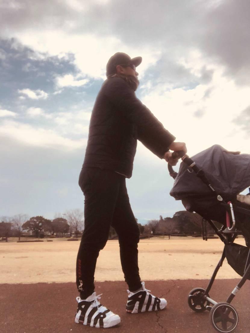 かっこいい靴履くと息子との散歩もテンション上がりますね〜