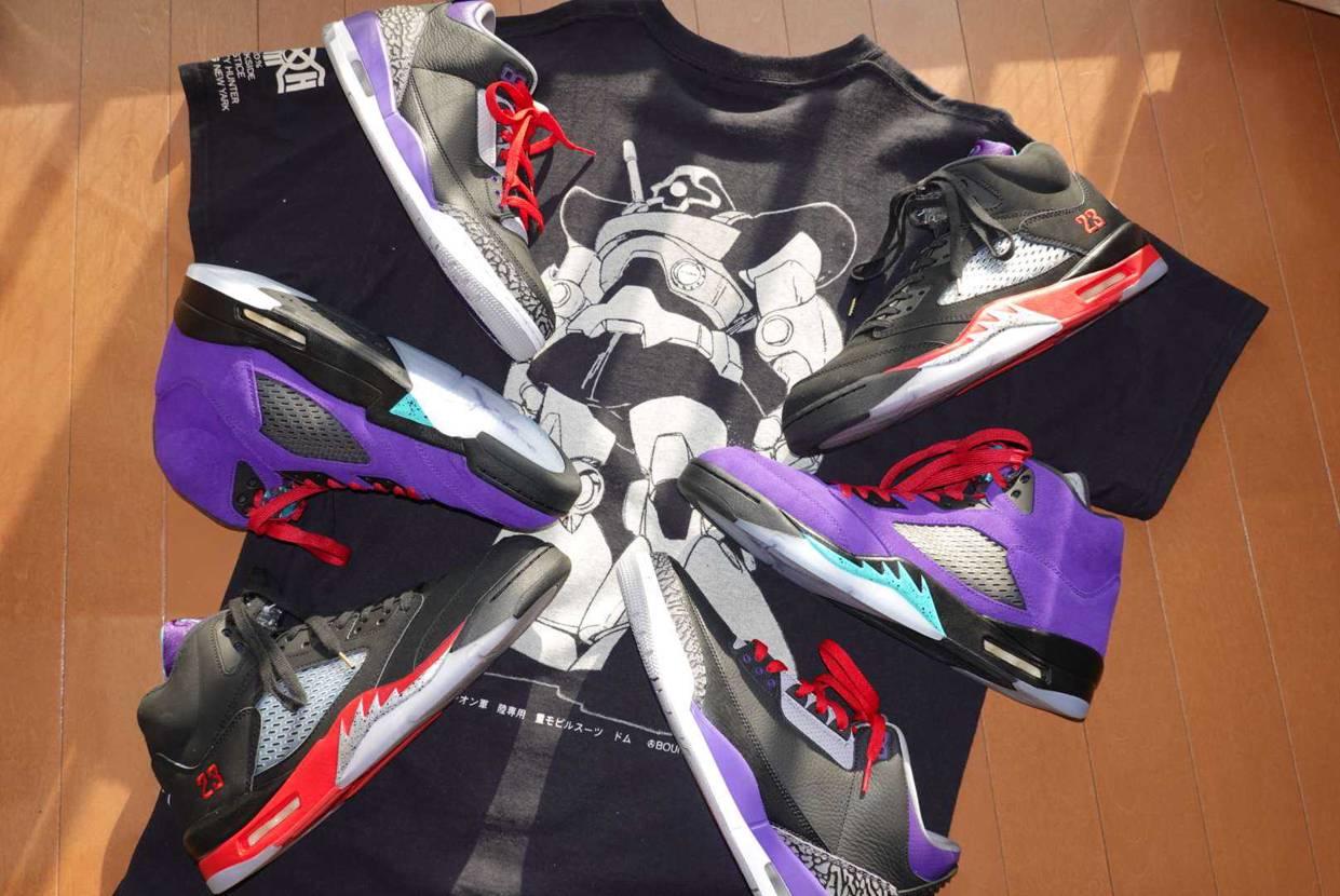 今年発売した ドムカラースニーカー!  黒、紫、赤は男心を 鷲掴みにされる色です