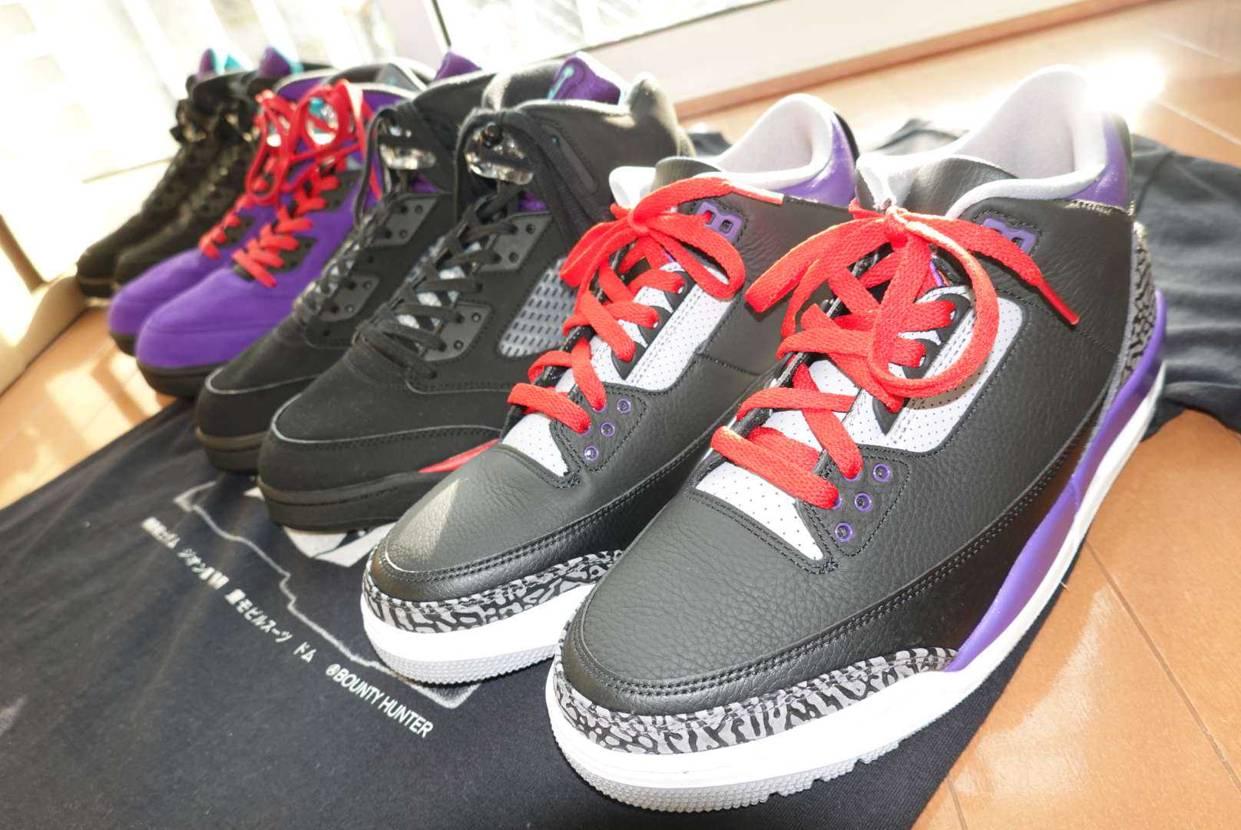 今年発売した ドムカラースニーカー!  黒、紫、赤は男心を