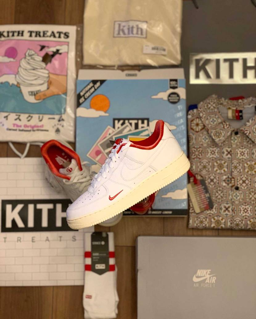 """『KITH × NIKR AIR FORCE 1 LOW """"WHITE/RED"""""""