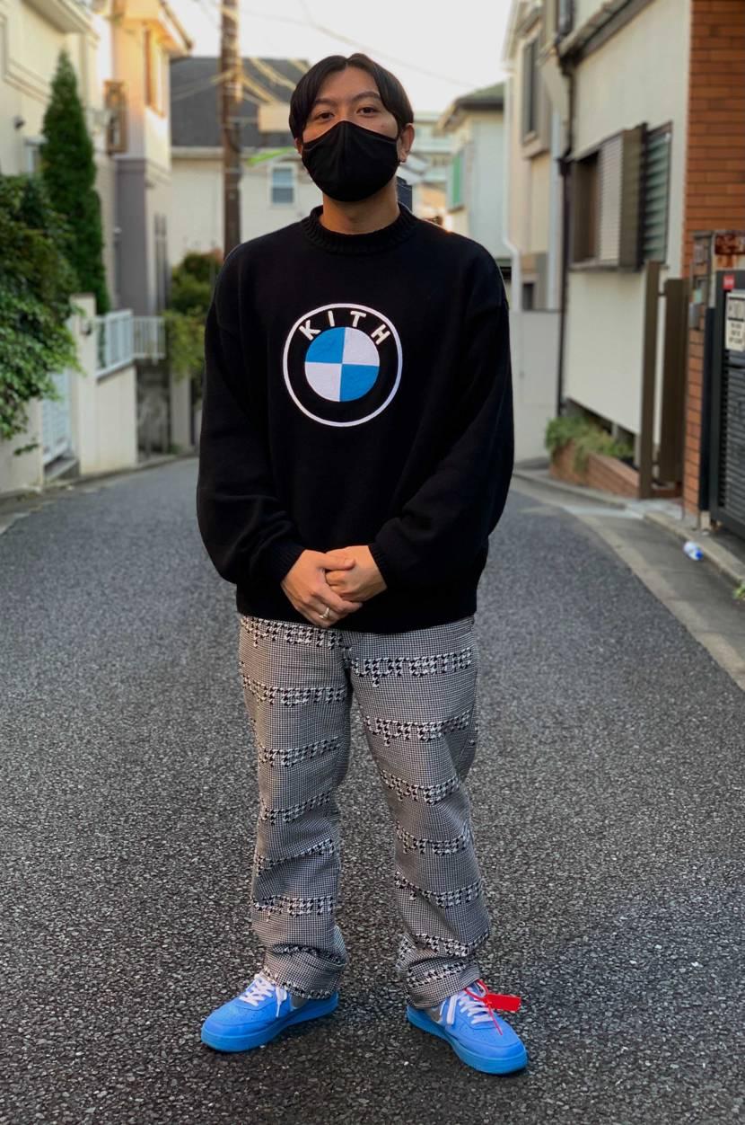 こないだKITHで買ってきたKITH×BMW セーター 一目惚れでした…😁