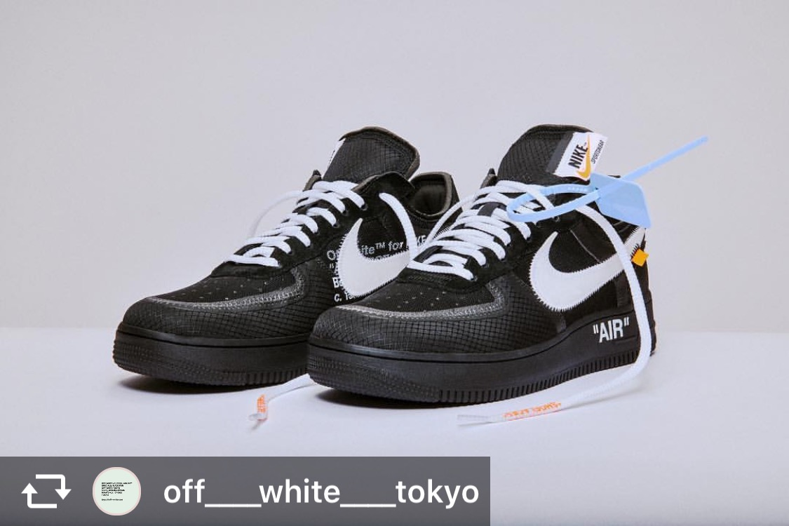 VoltはSNKRSで買えたから黒欲しい! #af1 #offwhite #th