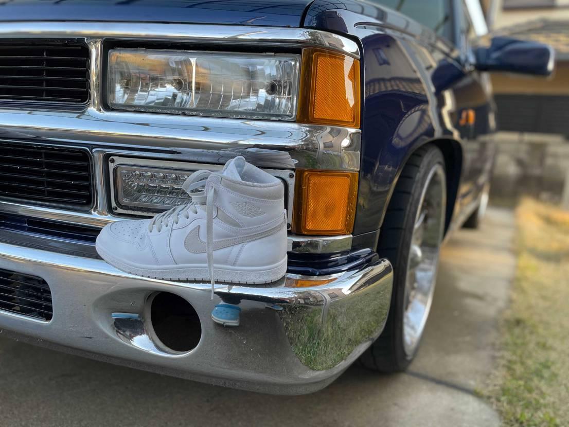 天気が良かったので、Nグレー初履き😍 tahoe君洗車した後にコラボ😎