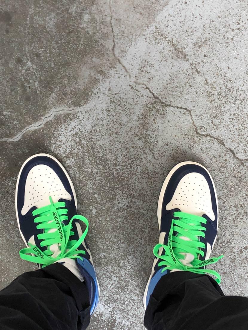 初履き 緑紐もなかなかいけてる気がする