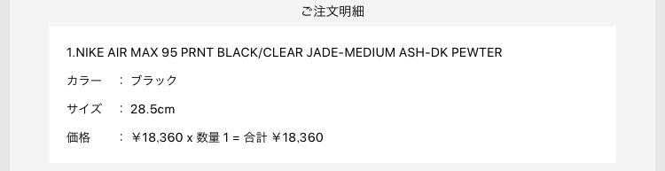 今年初購入!  #初売り#アトモス#アトモスオンライン#airmax95#J