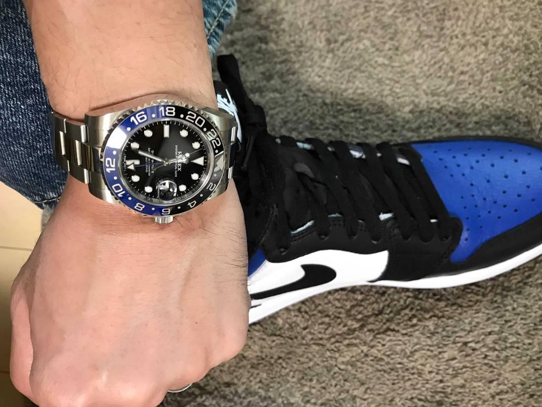 初AJ1 ! 時計との色合いもバッチリです。