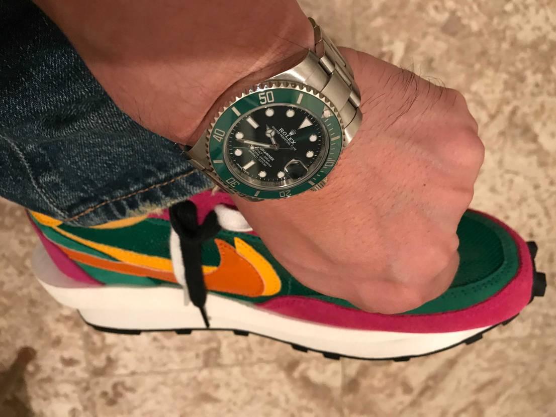 これも合うかな? 時計とのコーデ楽しいです。