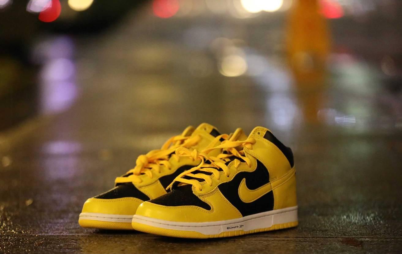 """Nike Dunk HI SP  """"Varsity Maize""""  雨の日に"""
