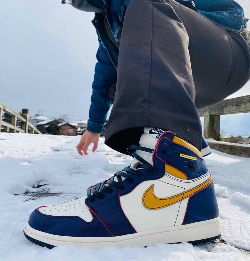 雪とジョーダン1 ☃️