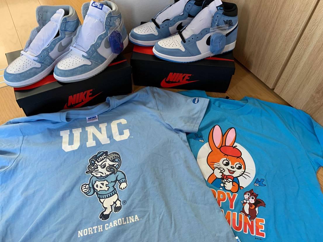 こちらで知ったUNCシャツに加えて、 子供の大好きなクッピーラムネのシャツを見