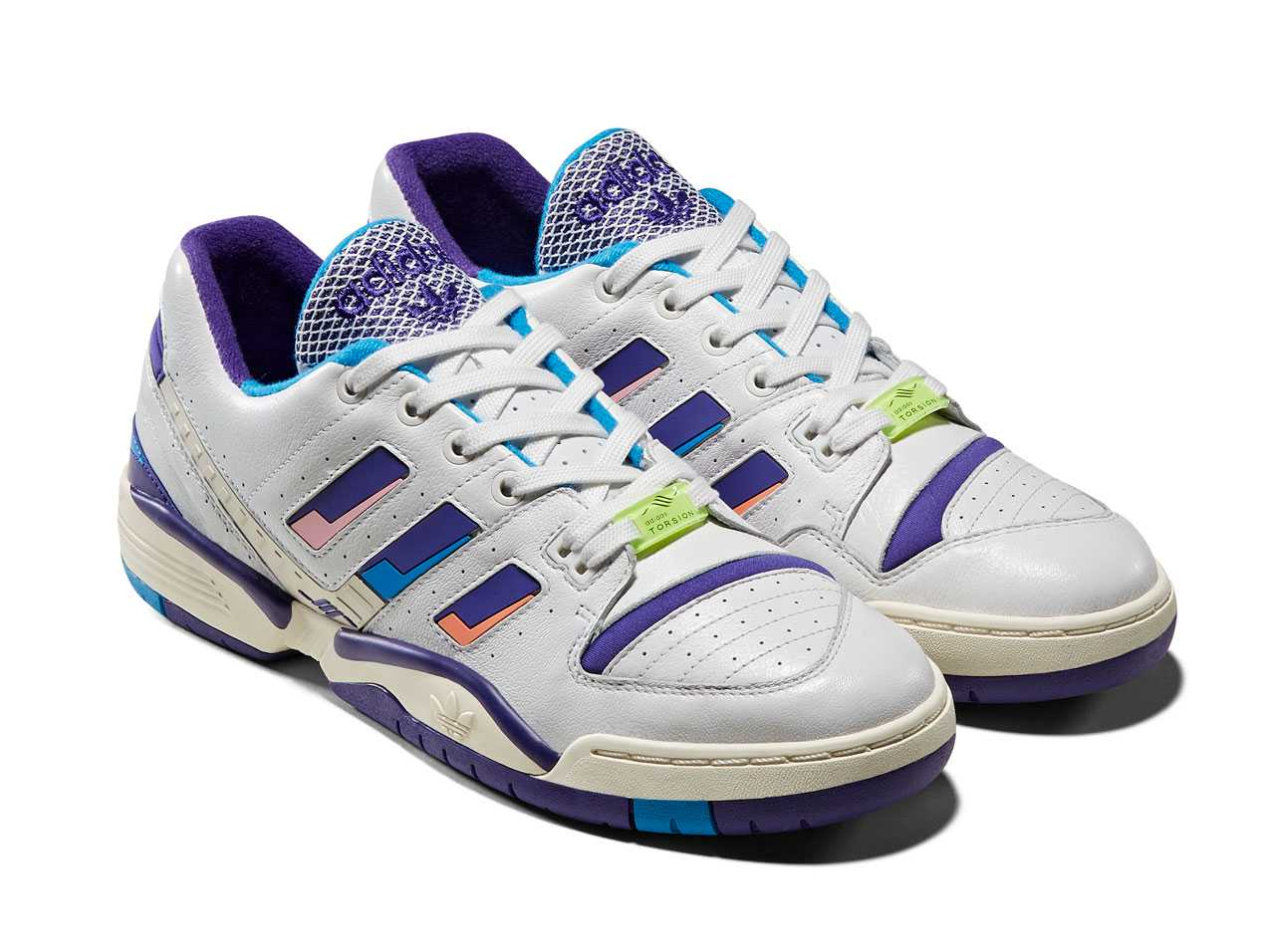 adidas Consortium TORSION EDBERG COMP - CRAYON WHITE/BRIGHT BLUE