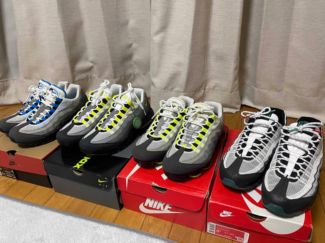 95をもっと増やしたいけど同じような靴ばかり買うなと言われる😥 増やしますけど