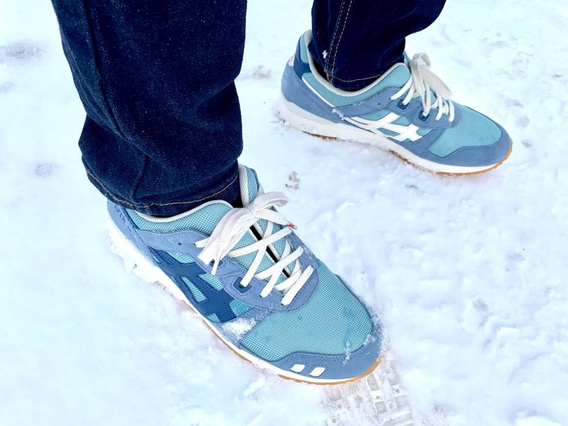 雪×ゲルライト3 今まで同じスニーカー履いてる人見たことないから好き🙃