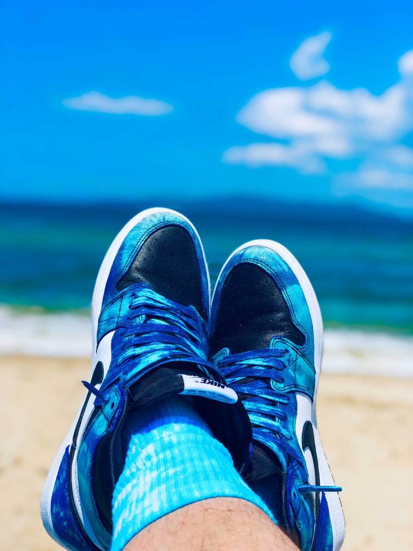 じわじわと夏になってきましたね💦 タイダイは夏って感じですね☺️ 海は気持ち