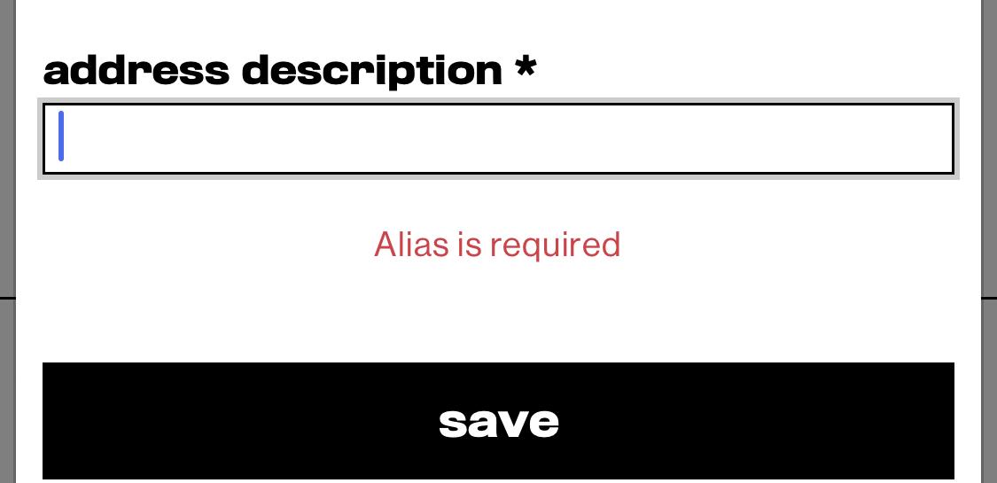 slam jamで住所登録をしようと思ってるんですが、これは何を書けばいいのでし