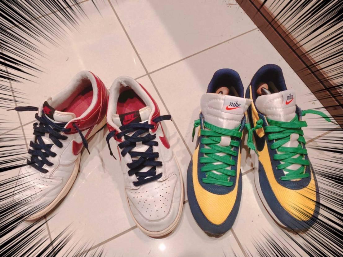 テイルウィンドの靴紐を変えてみました(^。^) 緑はどうかなぁ(*^ω^*)