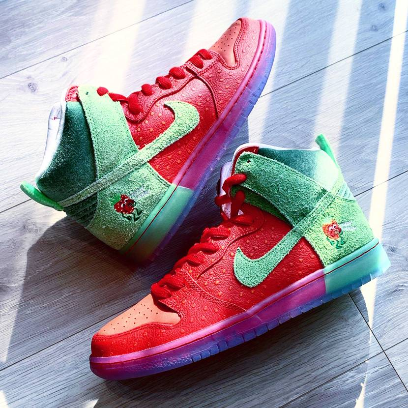 The Strawberry Cough Nike Dunks have off