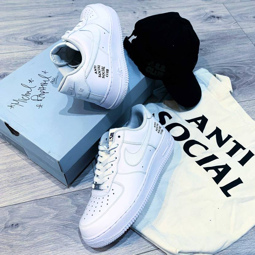 Assc unreleased logo sneakers and cap an