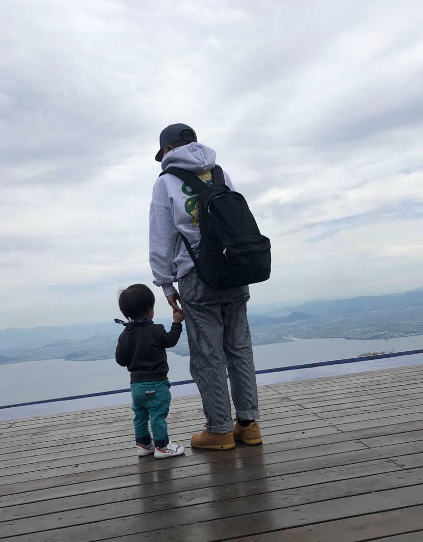 琵琶湖テラス行ってきました😊 あいにくの曇り空でしたが、家