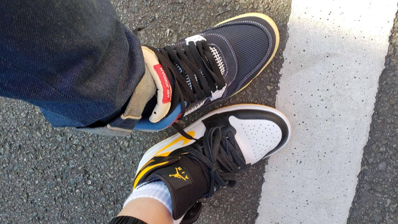 初履き!靴紐がうまくできない!