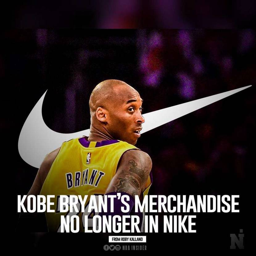 Nike removed all Kobe-related from their