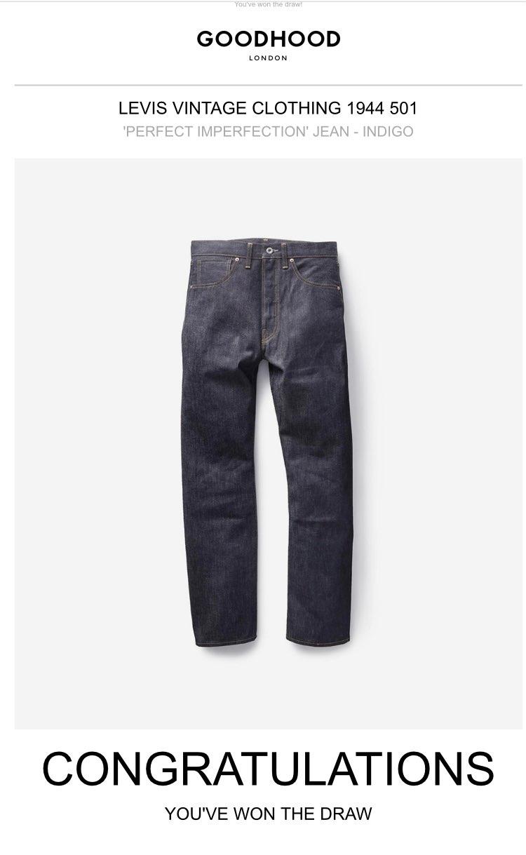 LEVIS VINTAGE CLOTHING 1944 501 'PERFEC