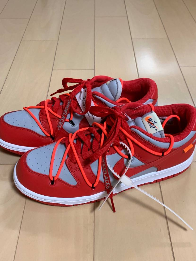 到着!試し履き躊躇してしまう靴紐の存在感!40半ばのおっさんが履くのも厳しそう。