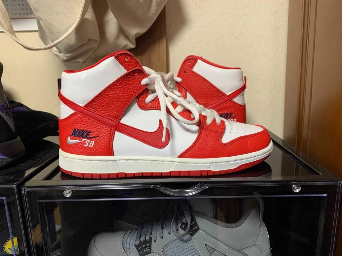 Nike SB Dunk High Future Court Red 欲しかっ