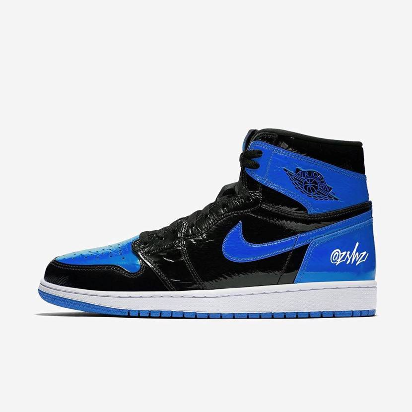 Crinkled Patent Leather Royal AJ1 Concep