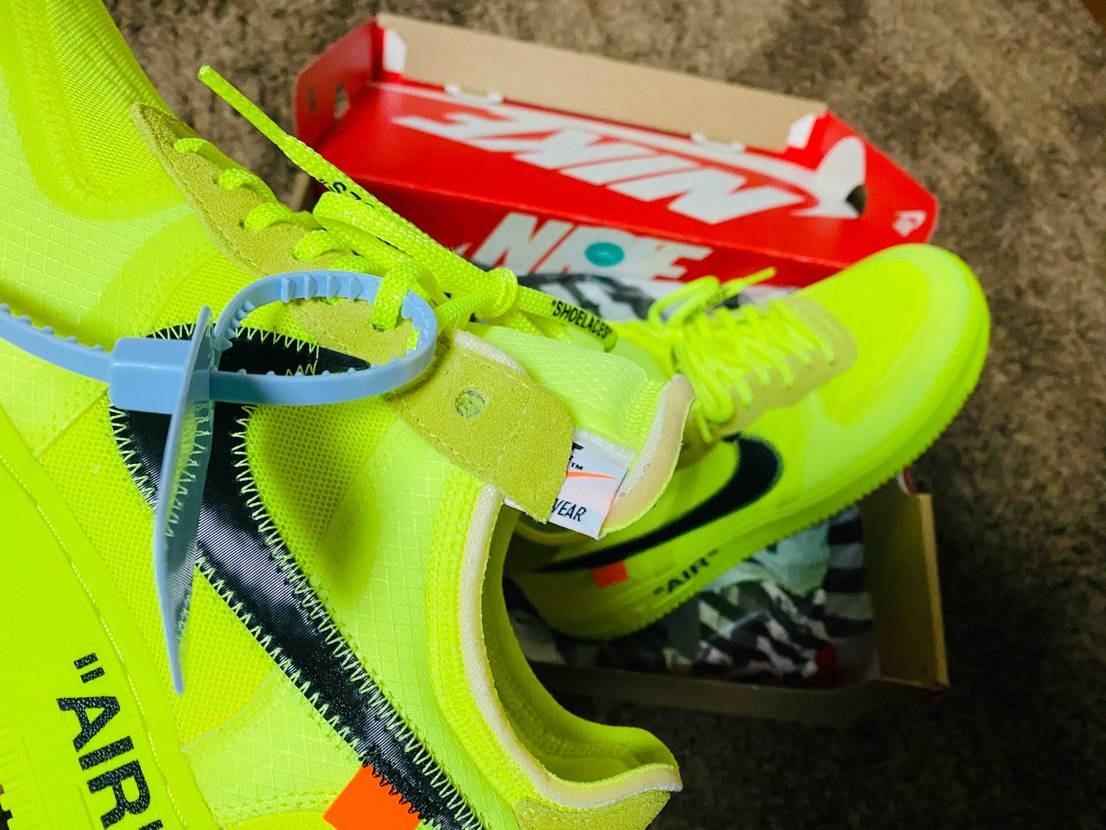 OFF-WHITE × NIKE AIR FORCE 1 VOLT #off-
