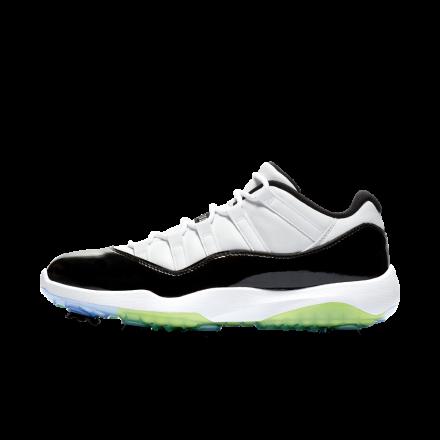 ナイキ エアジョーダン 11 ゴルフ ホワイト/ブラック-ボルト