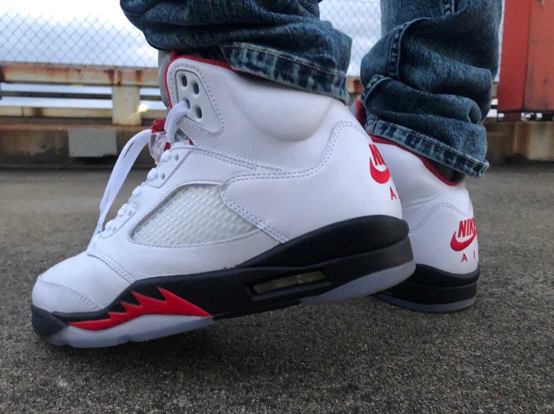 "🔥 NIKE AIR JORDAN 5 RETRO ""FIRE RED"" 🔥"