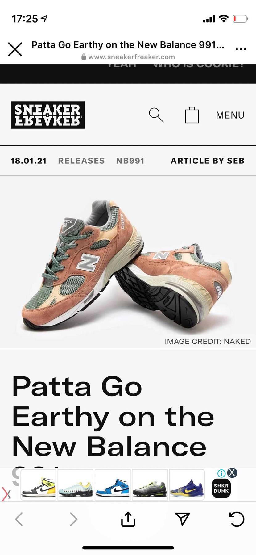 PATTAとのM991も激アツすぎない??