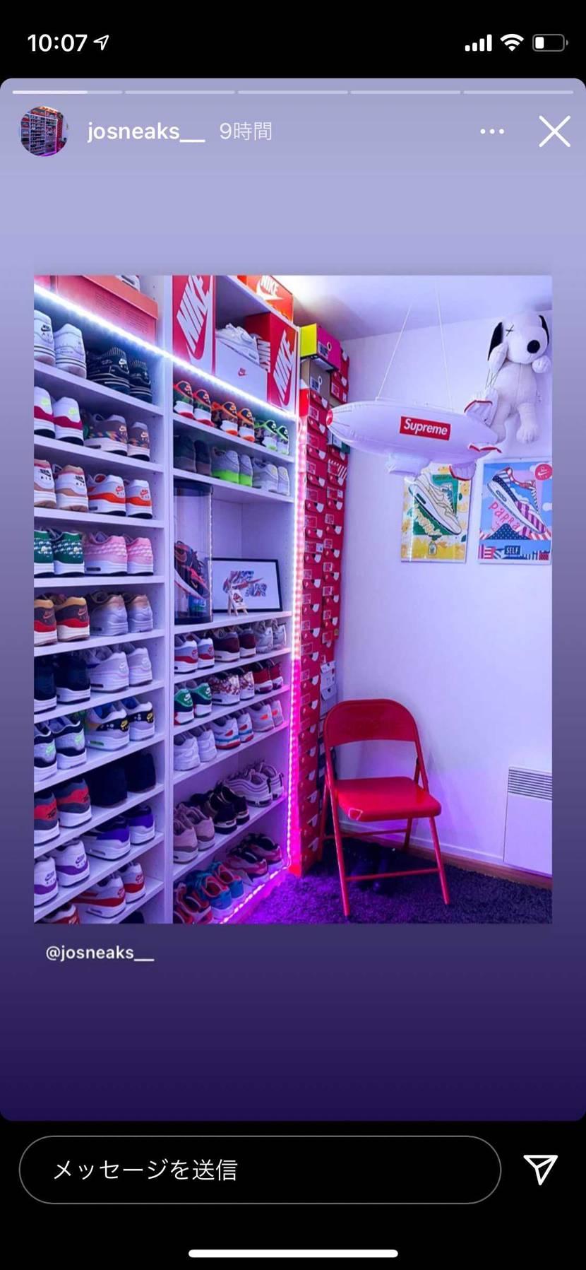 こういう感じのスニーカー飾れる棚で、良さげなやつありますか??