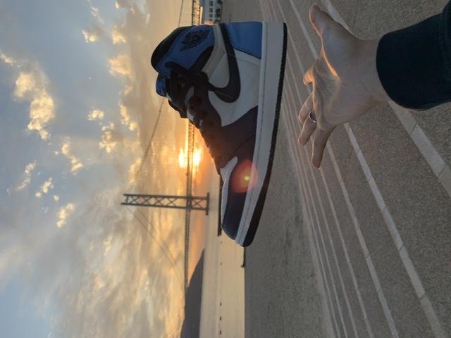 はんどぱわー🔥  オブシディアン良き🥰#nike #スニーカー好き #aj1