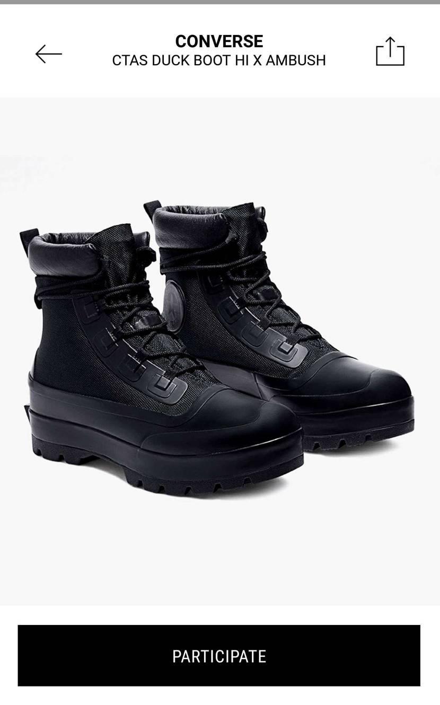 コンバース×アンブッシュ 長靴