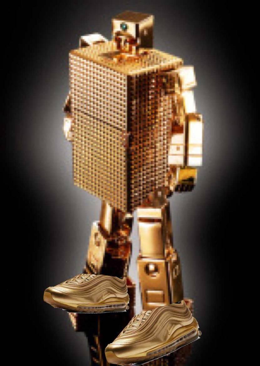 昭和ネタ ゴールドなヤツ ライターに変身するヤツ カカトにエアーを搭載して