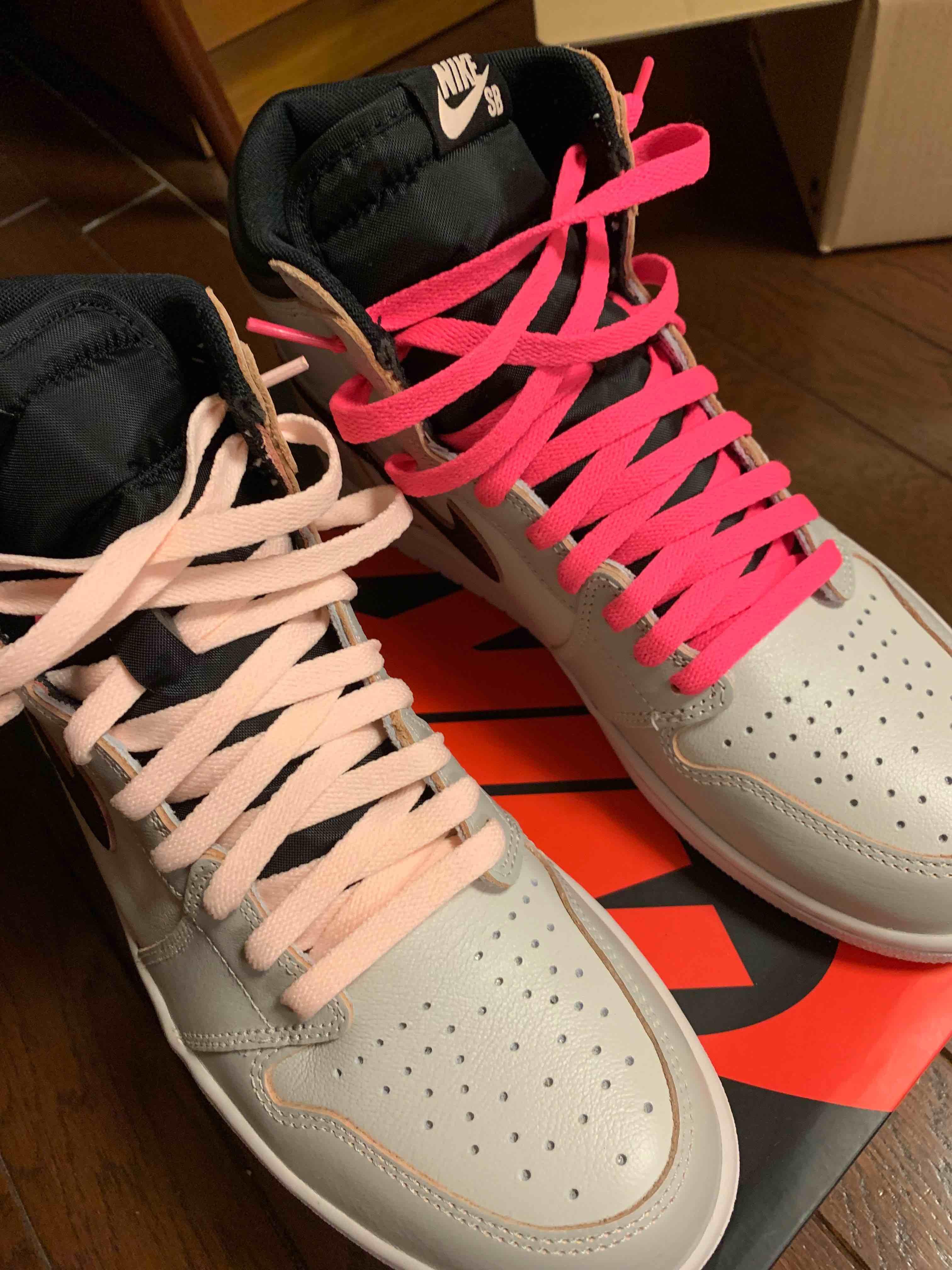 靴紐左右で変えてみましたー個人的にはいい感じですが皆さんはどう思いますか?
