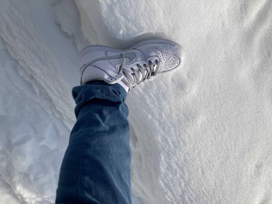 白には白で!