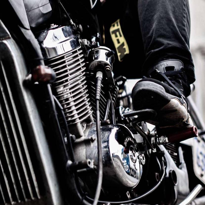 AJ6 DMP × motorcycle