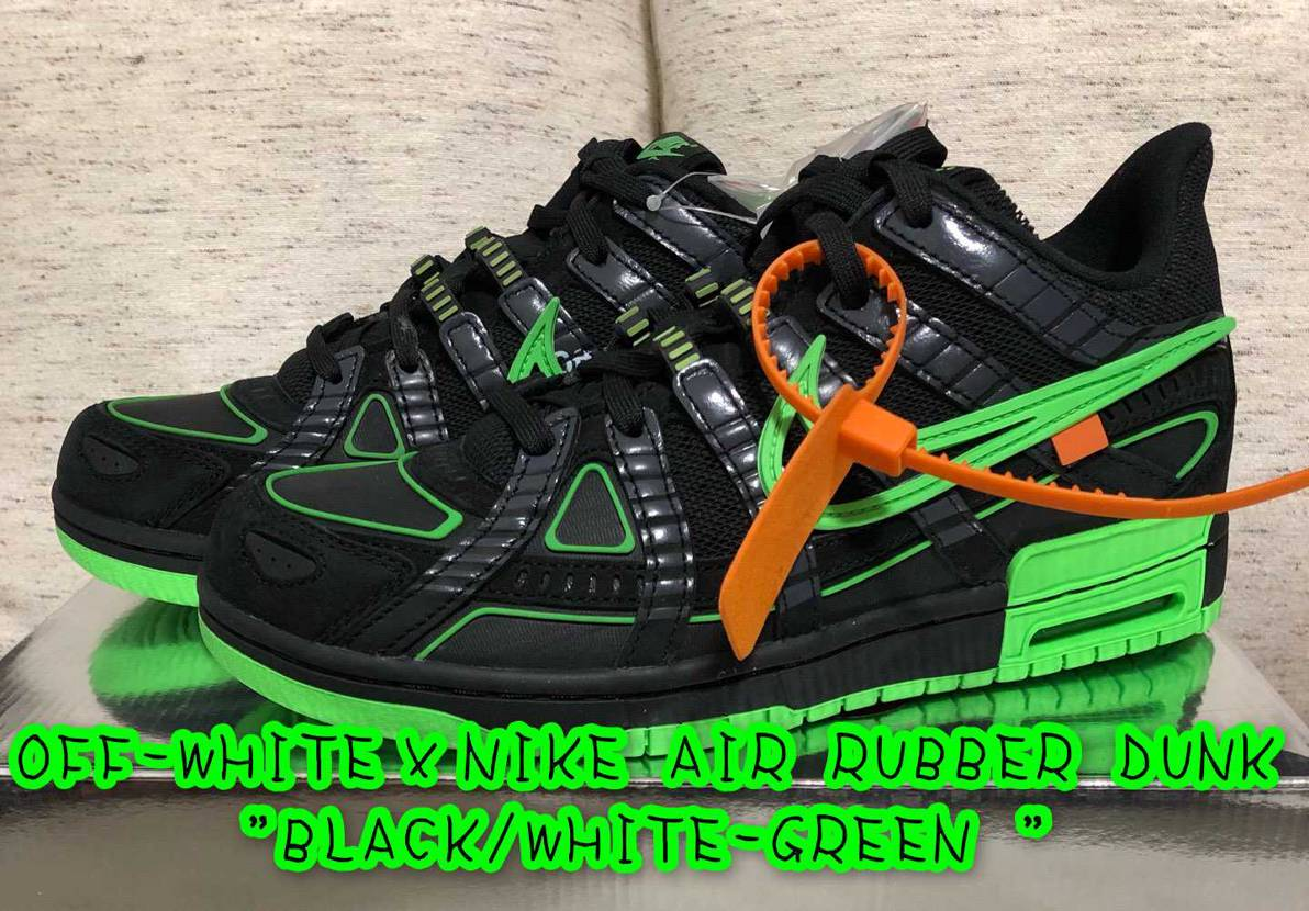 """OFF-WHITE×NIKE AIR RUBBER DUNK """"BLACK/WH"""