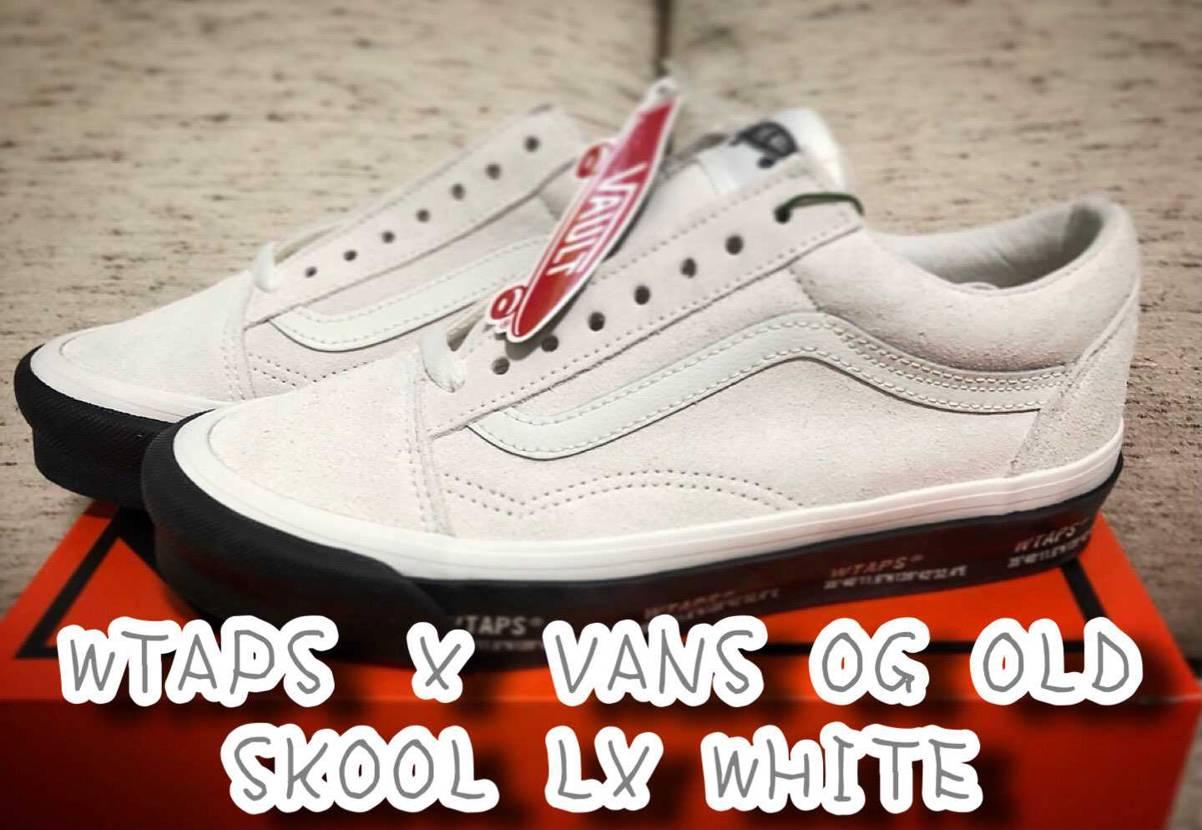 WTAPS × VANS OG OLD SKOOL LX WHITE