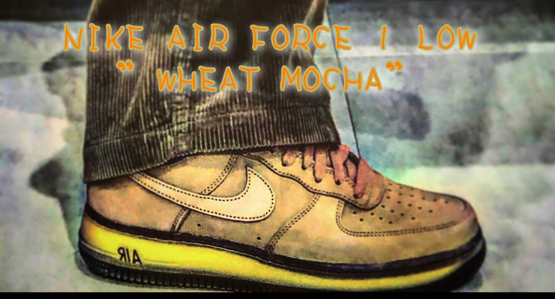 "NIKE AIR FORCE 1 LOW ""WHEAT MOCHA"""