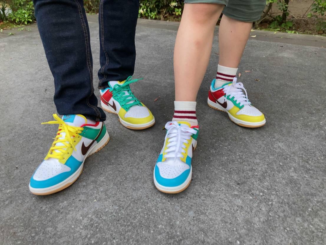 親子で初履き! GSサイズもカラーシューレースがあるとよかったなぁ