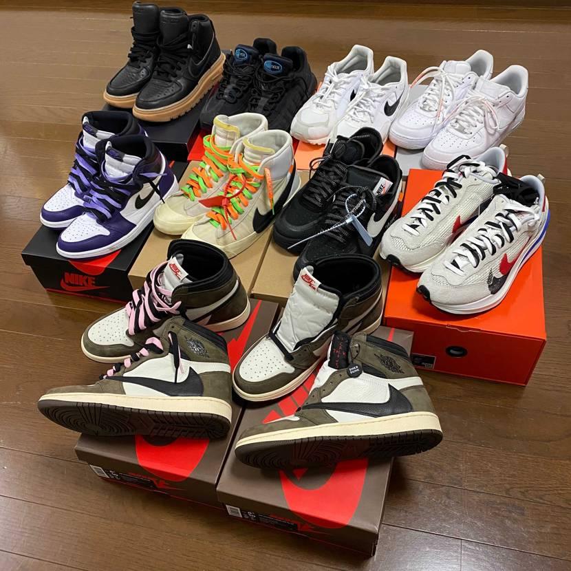 今年最後に持ってるスニーカー並べてみました! 12月スニダンで奮発して2足買っ