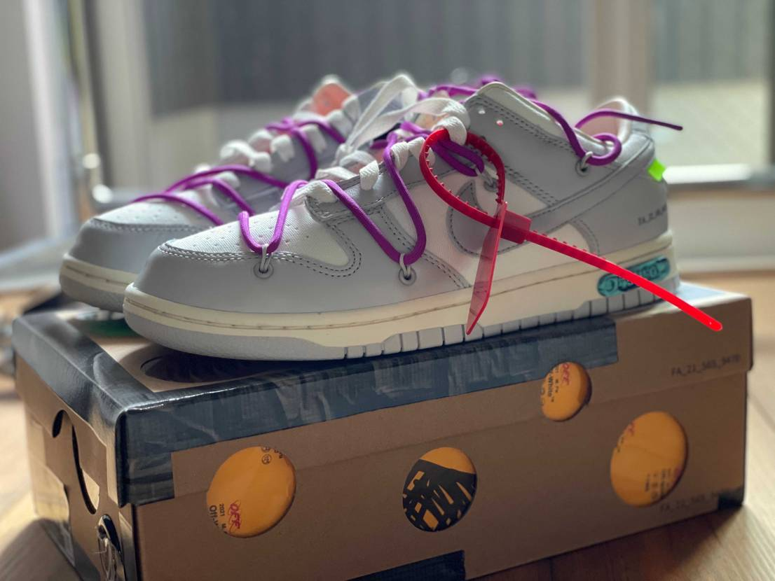 """OFF-WHITE × NIKE DUNK LOW 1 OF 50 """"45"""""""